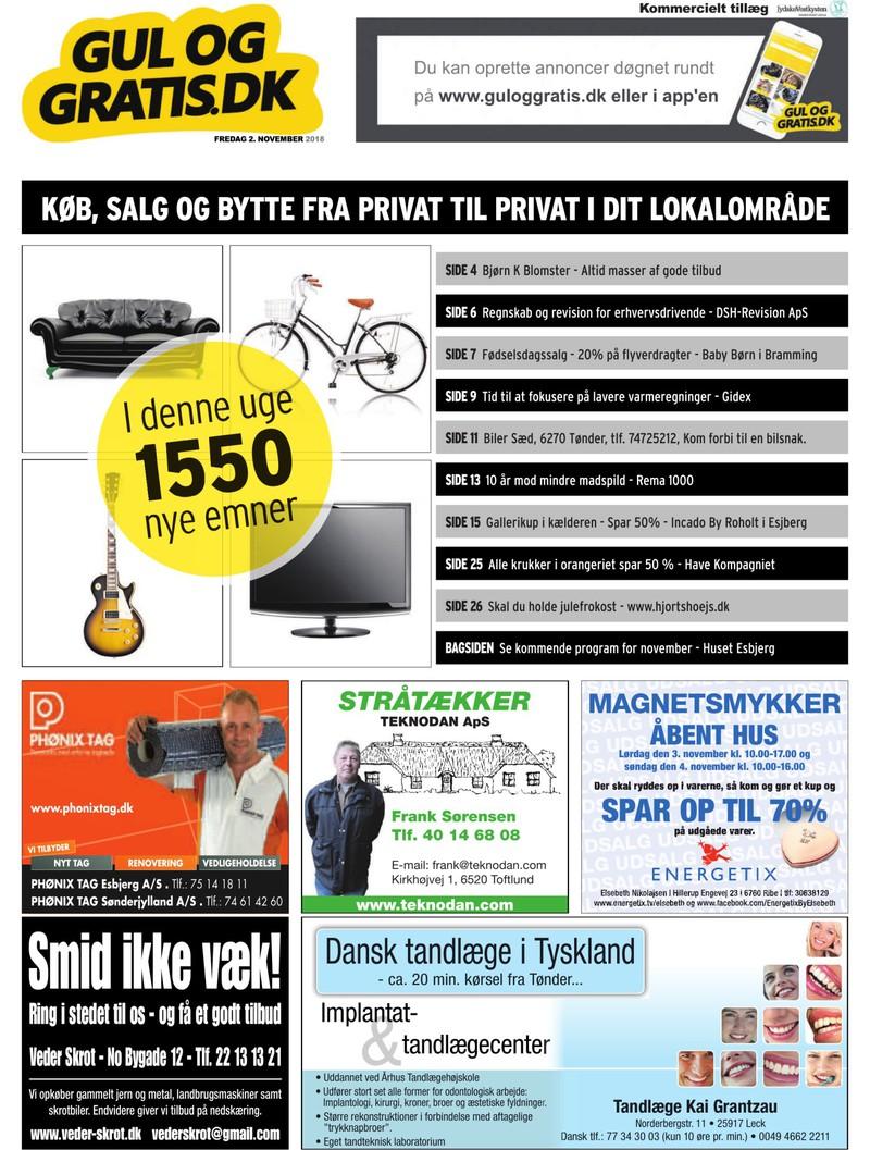 b390ab15362 Gul og Gratis - Jydske Vestkysten - 02-11-2018