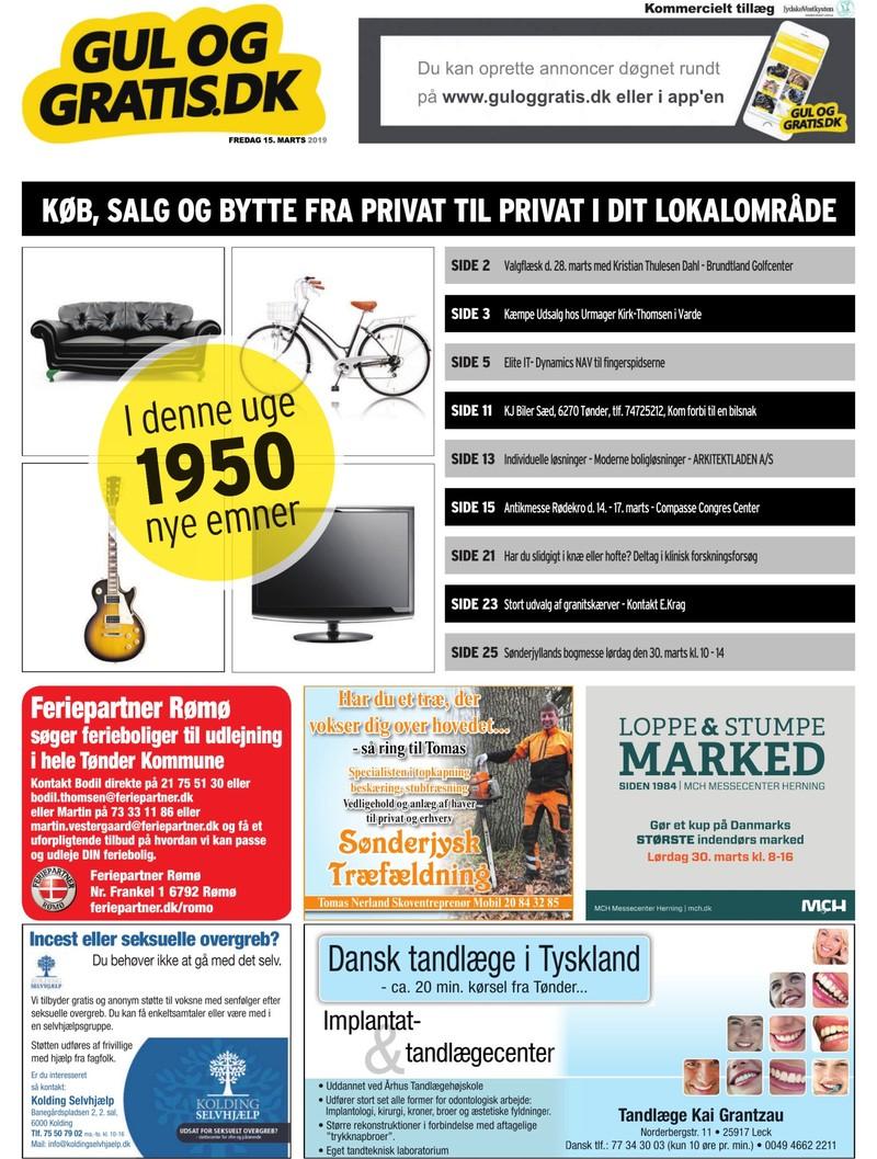 Gul Og Gratis Jydske Vestkysten 15 03 2019
