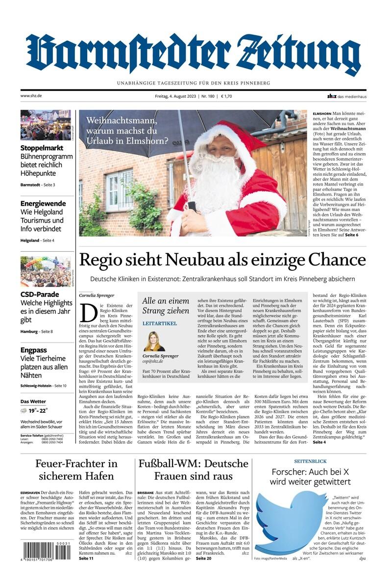 Barmstedter Zeitung: Nachrichten für Barmstedt & Umgebung | shz.de