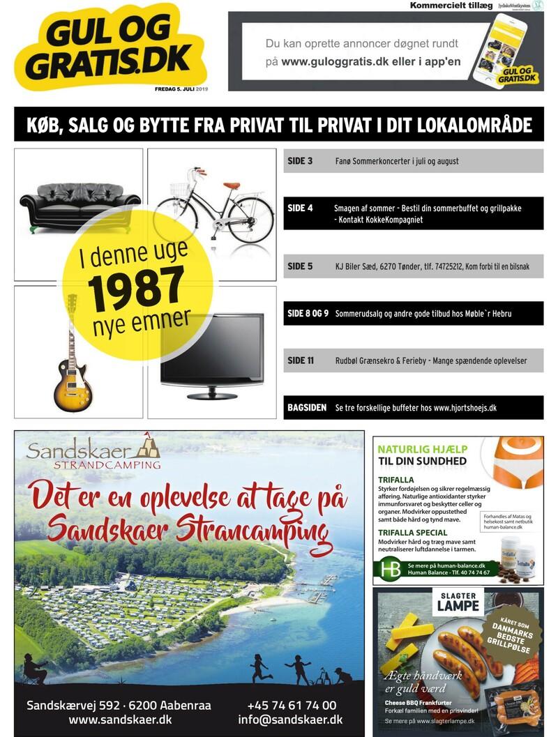 Gul og Gratis Jydske Vestkysten 05 07 2019