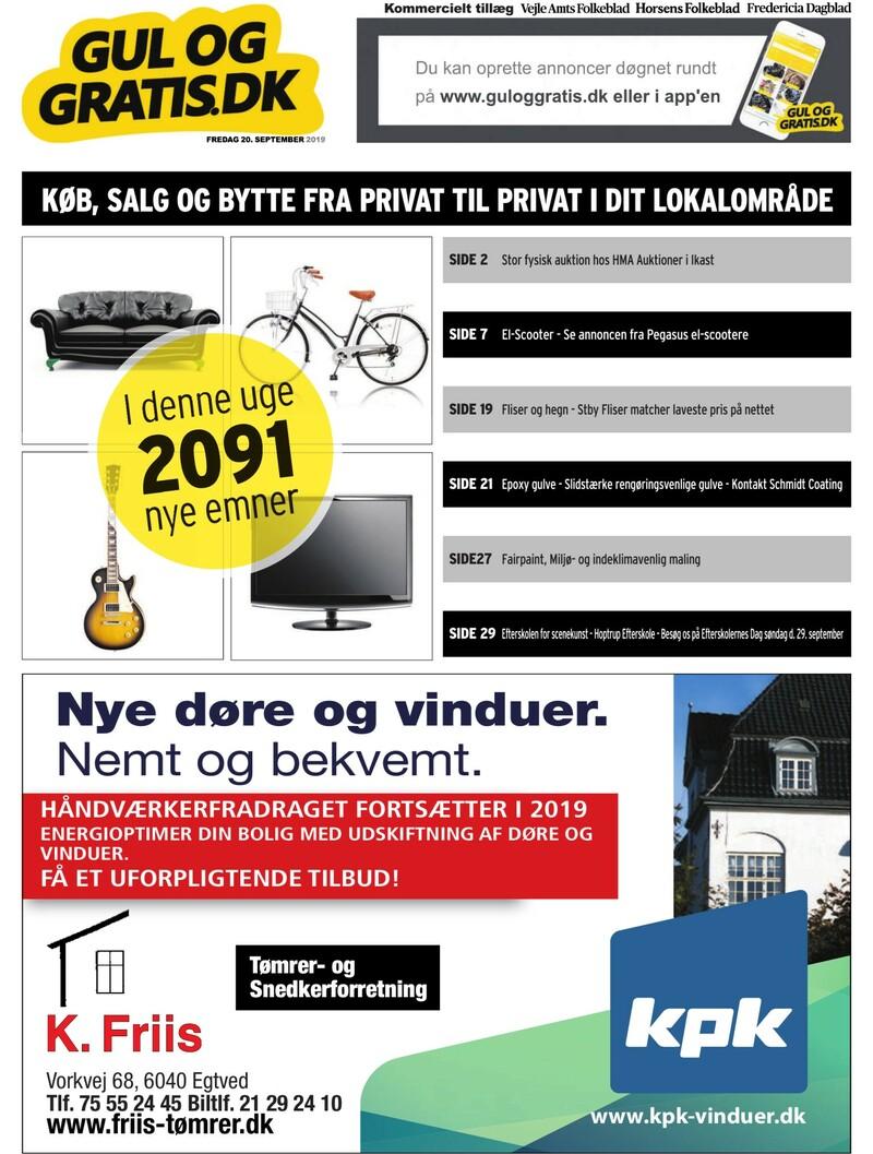 Gul og Gratis Vejle Amtsfolkeblad 20 09 2019