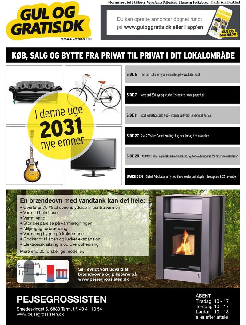 Gul og Gratis Vejle Amtsfolkeblad 08 11 2019