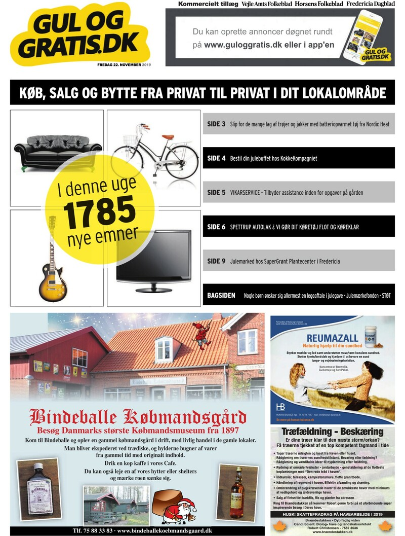 Gul og Gratis Vejle Amtsfolkeblad 07 12 2018