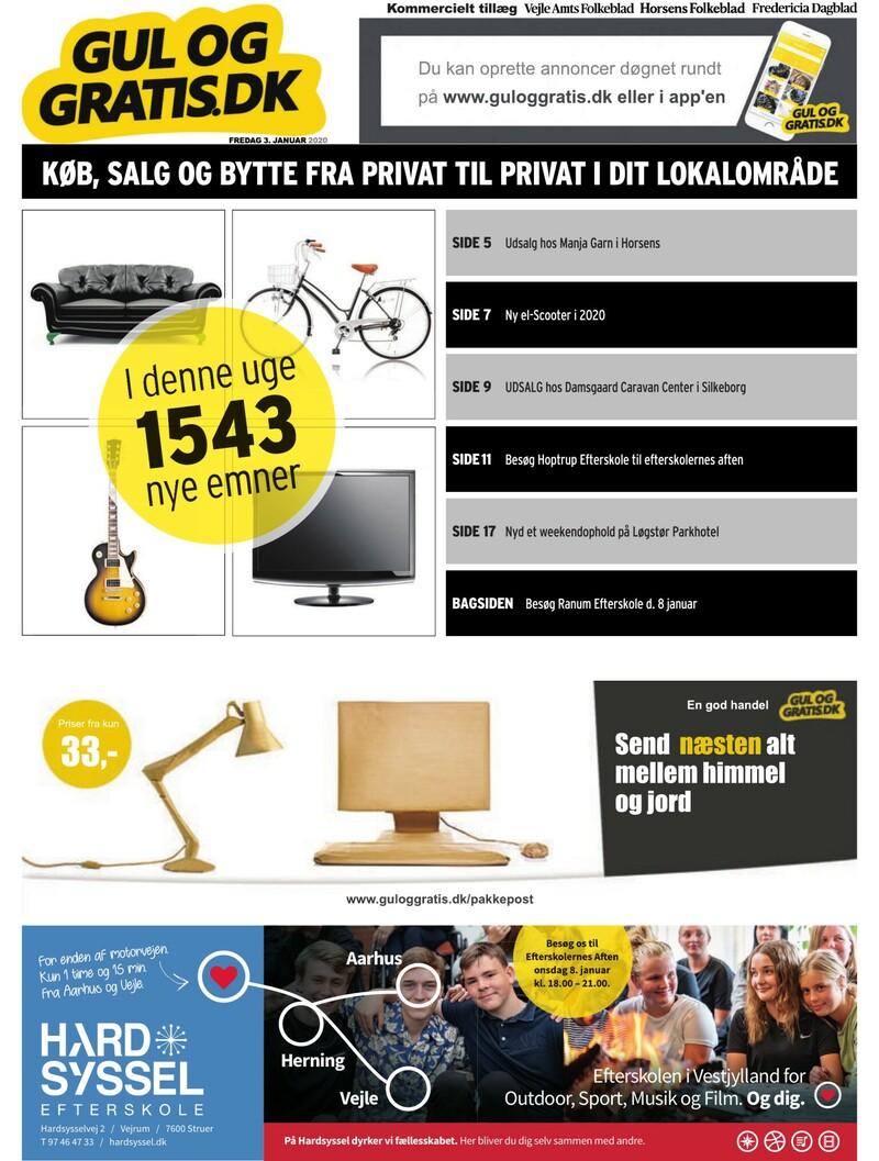 Gul og Gratis Vejle Amtsfolkeblad 03 01 2020
