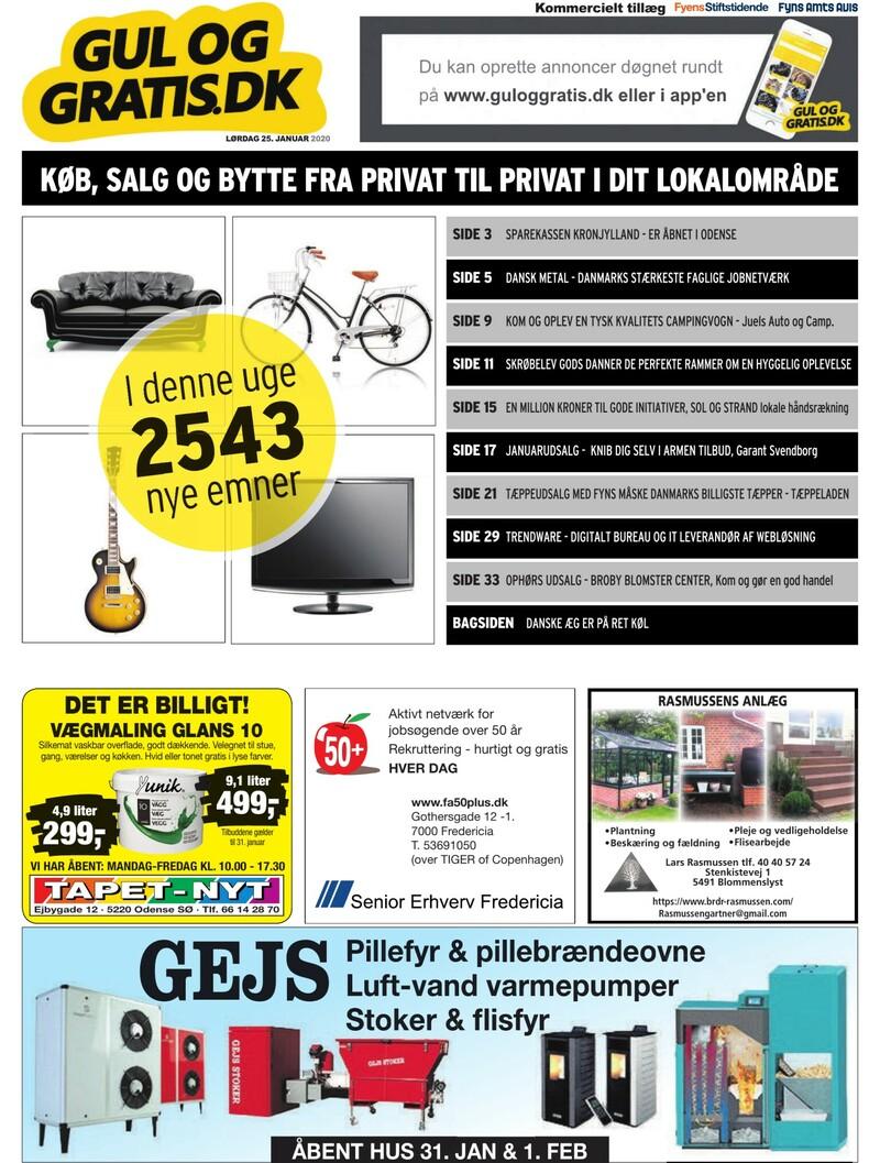 Gul og Gratis Fyens Stiftstidende 25.01.2020