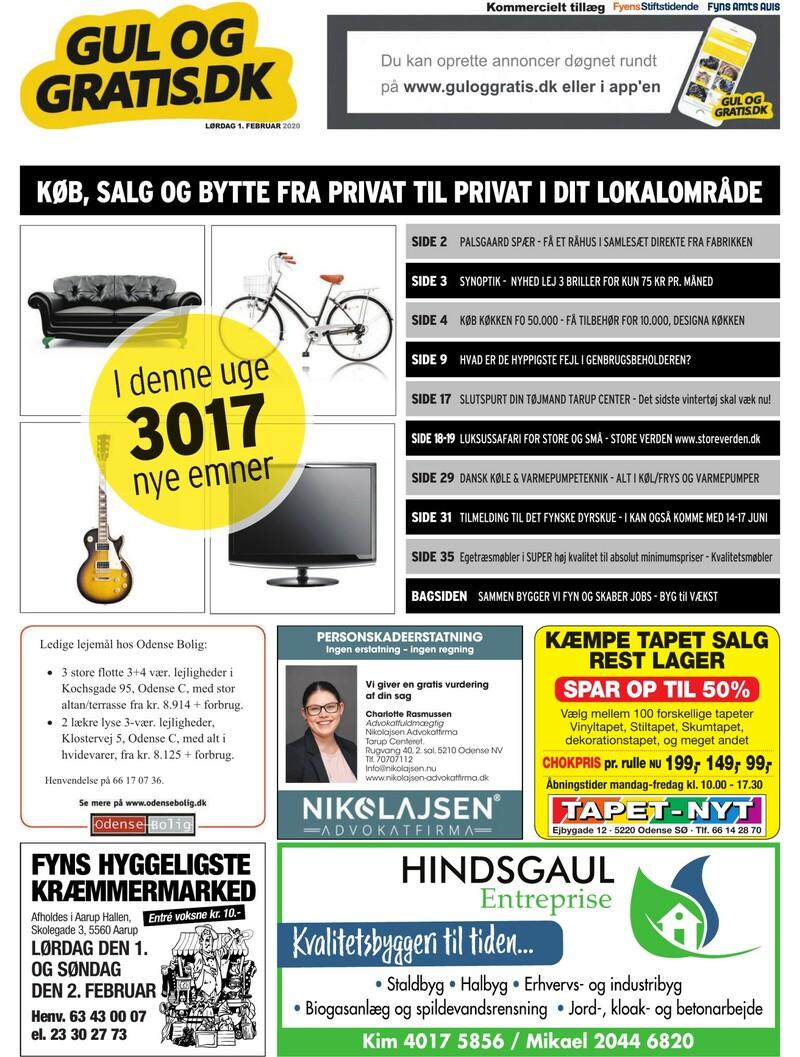 Gul og Gratis Fyens Stiftstidende 01.02.2020