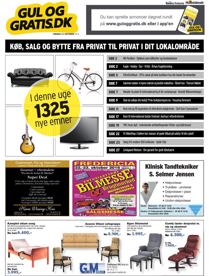 Gul og Gratis Århus Stifstidende 14 10 2016