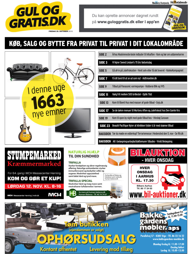 d6e36d9ebfc Gul og Gratis - Århus Stifstidende - 28-10-2016