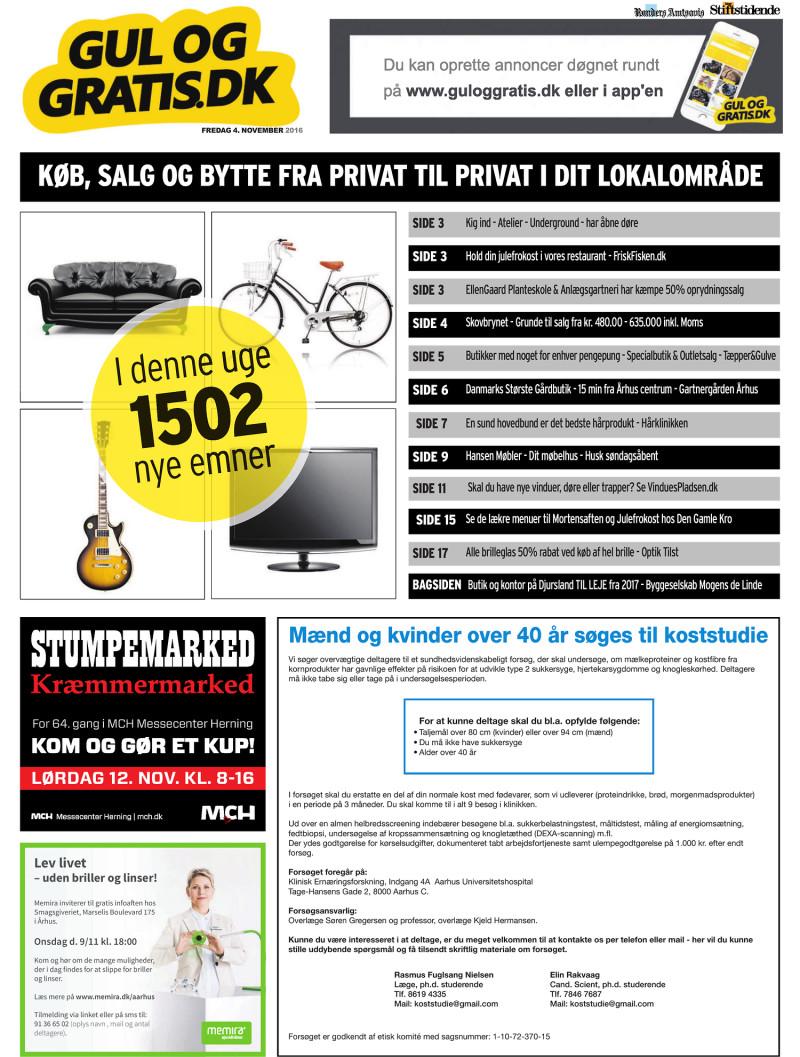 0d6d94419c1 Gul og Gratis - Århus Stifstidende - 04-11-2016