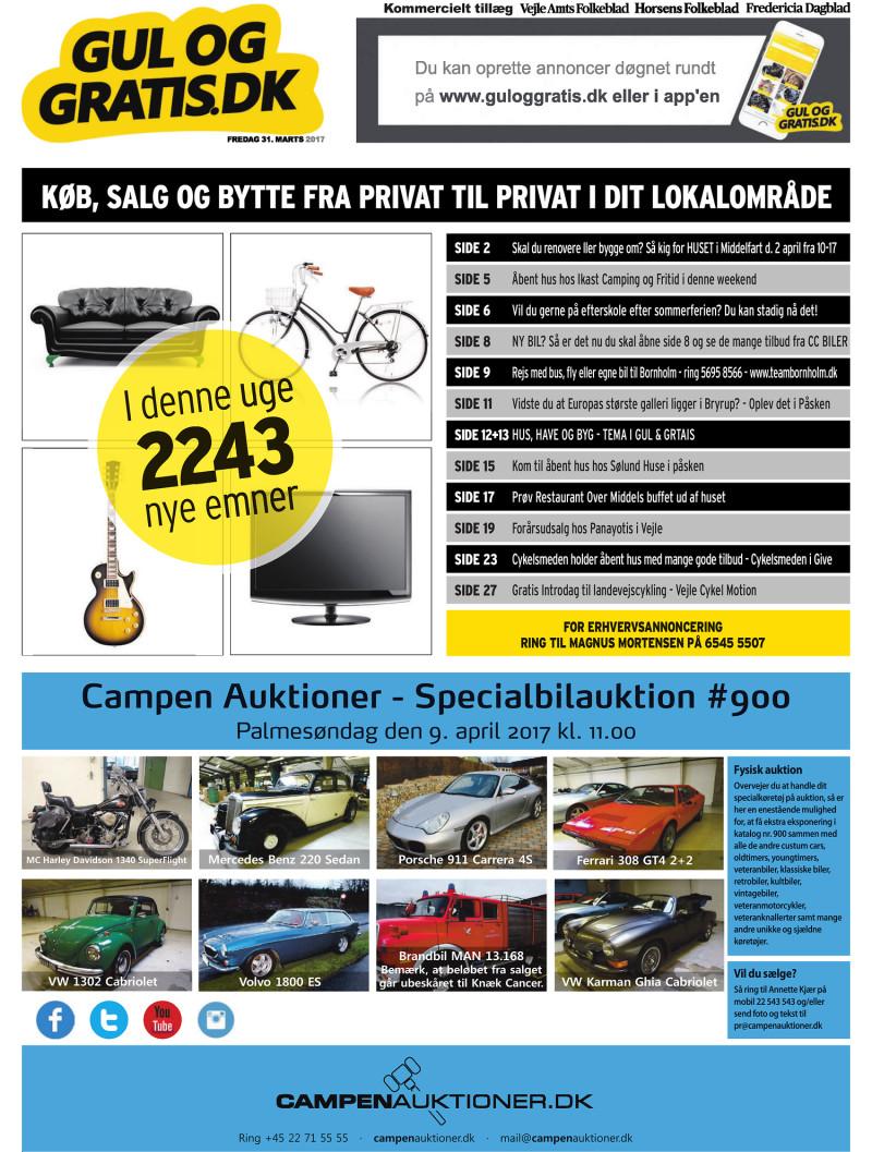 Gul og Gratis Vejle Amtsfolkeblad 31 03 2017