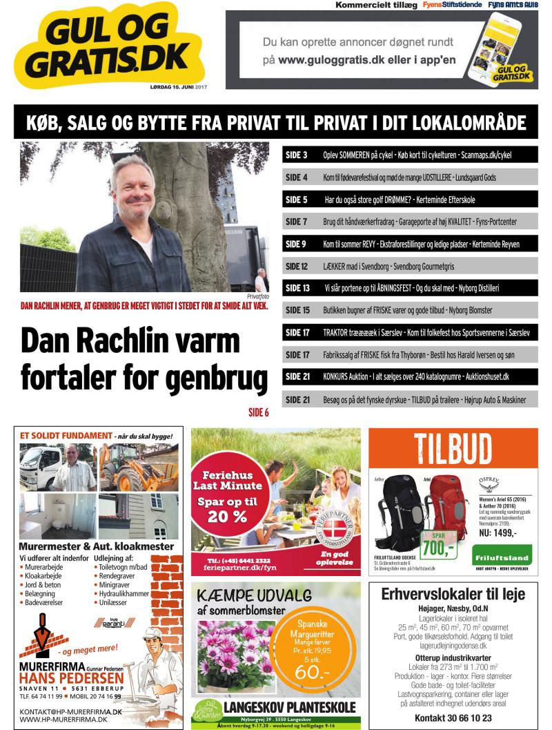 Gul og Gratis Fyens Stiftstidende 10.06.2017
