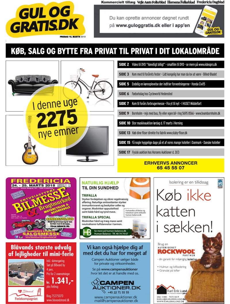 Picture of: Gul Og Gratis Vejle Amtsfolkeblad 16 03 2018