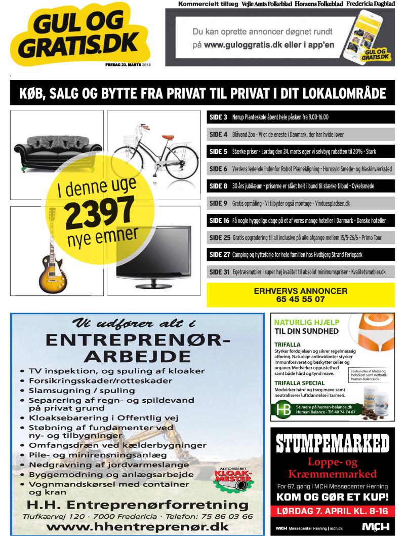 Gul og Gratis Vejle Amtsfolkeblad 23 03 2018