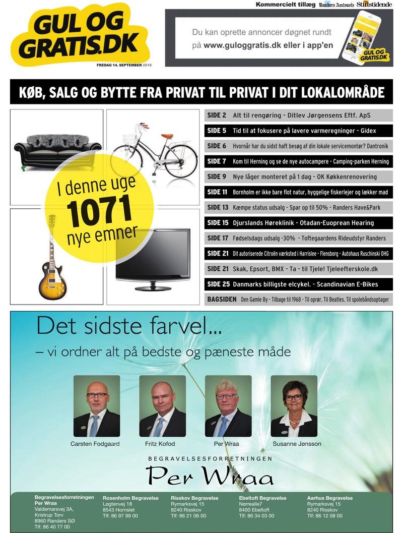 4e36d6af Gul og Gratis - Aarhus Stifstidende - 14-09-2018