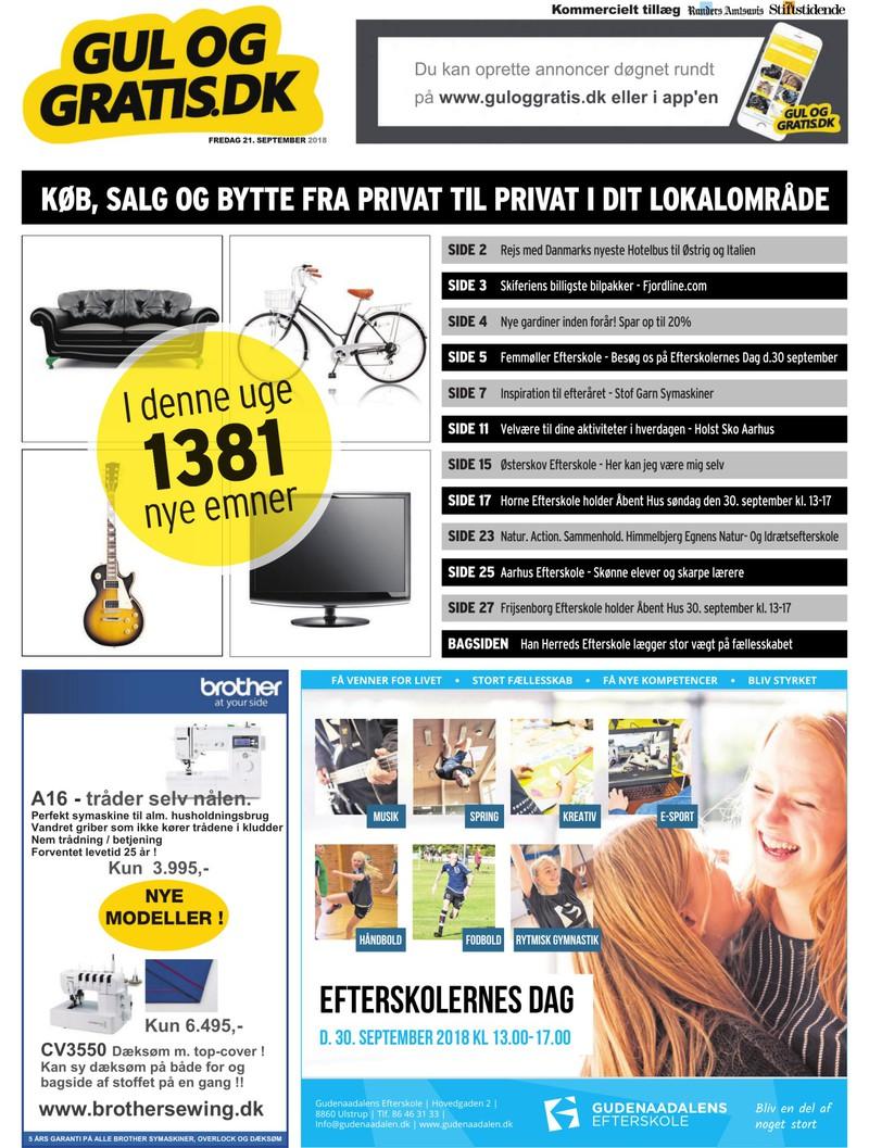 a16182af Gul og Gratis - Aarhus Stifstidende - 21-09-2018