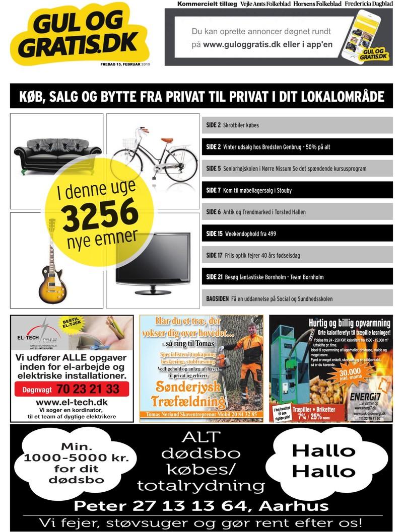 Gul og Gratis Vejle Amtsfolkeblad 15 02 2019