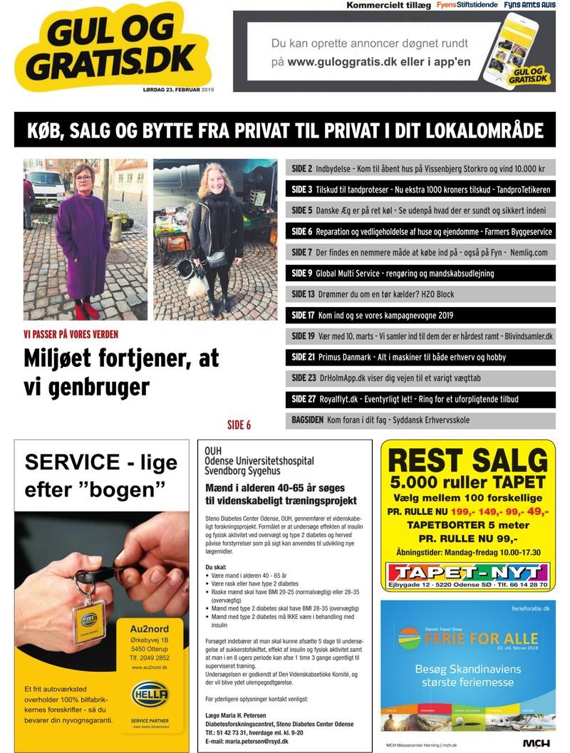 Gul og Gratis Fyens Stiftstidende 23.02.2019