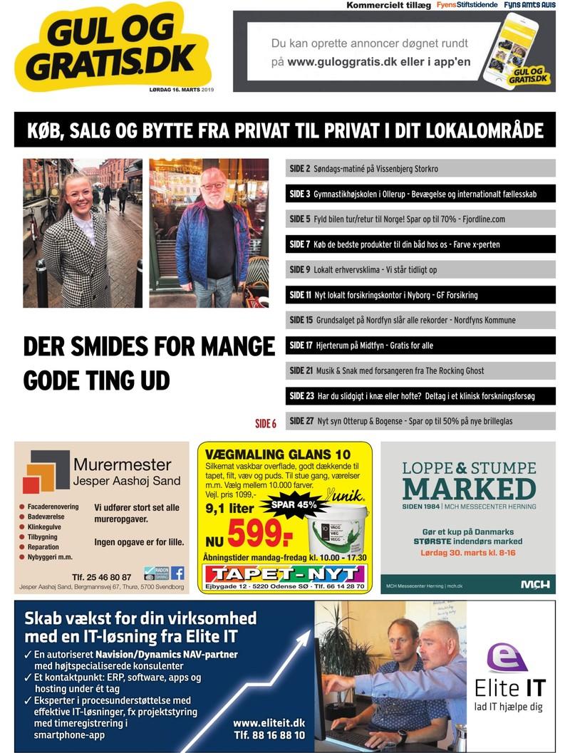 Gul og Gratis Fyens Stiftstidende 16.03.2019