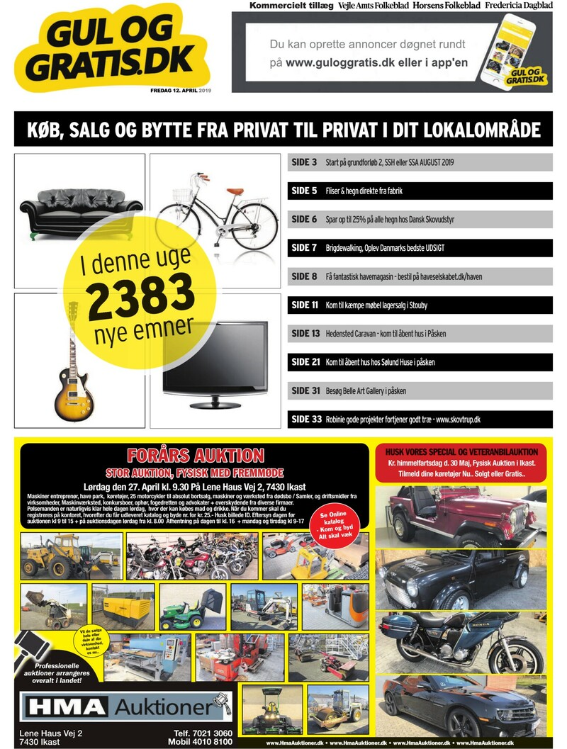 267dbd9ad55 Gul og Gratis - Vejle Amtsfolkeblad - 12-04-2019