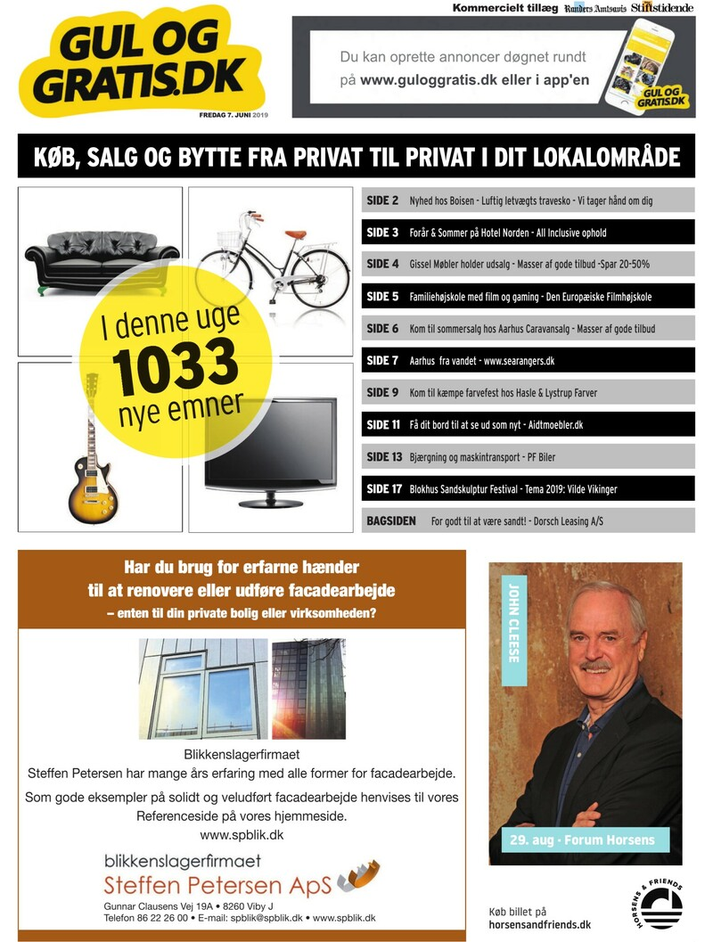 14469a9f Gul og Gratis - Aarhus Stifstidende - 07-06-2019
