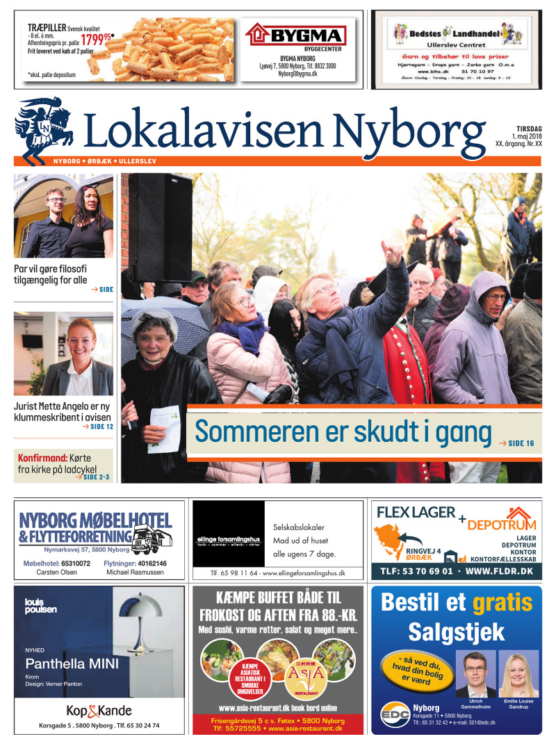 Picture of: Lokalavisen Nyborg 01 05 2018