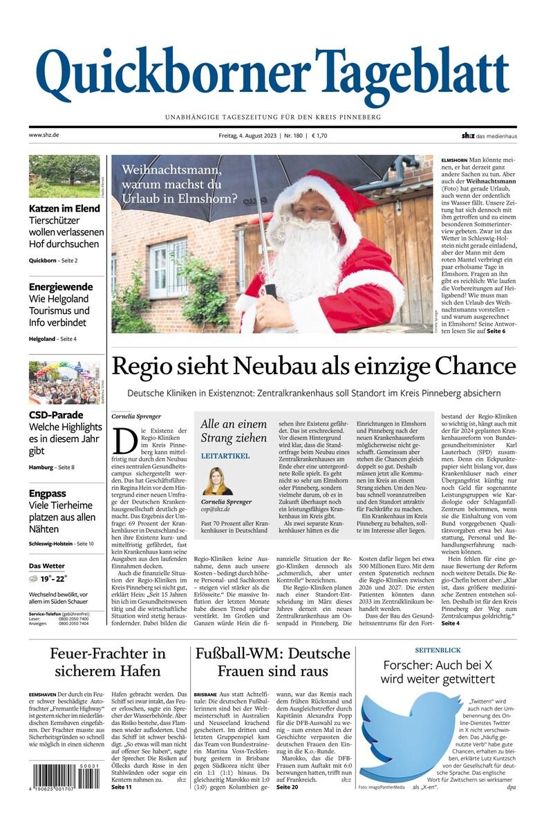 Quickborner Tageblatt: Nachrichten für Pinneberg & Umgebung | shz.de